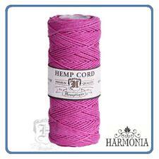 HEMPTIQUE 100% Pure  HEMP CORD SPOOLS  1mm Cord 62.5m spool  BRIGHT PINK
