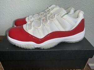 Nike Air Jordan 11 Cherry Red 2016 Low 528895-102 Men's Shoes Size 10 DS RARE