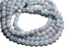 Fil 39cm 67pc env - Perles de Pierre - Jade Boules 6mm Bleu clair rose Pastel