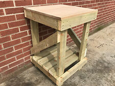 2ft SQUARE SOLID OAK TOP WORK BENCH - STRONG AND STURDY