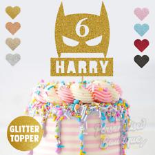 Personalised Custom Glitter Cake Topper, Superhero Childrens Birthday Party