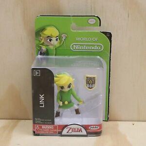 2017 World of Nintendo Jakks The Legend of Zelda Link 2 Inch Action Figure - New