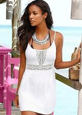 Buffalo London Beach Mini Dress Size UK 14 White DH077 FF 01