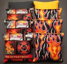 Firefighter Fire Rescue 8 Aca Regulation Cornhole Bean Bags Quality Handmade!