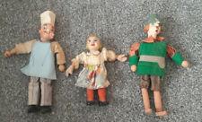 3 sehr alte Marionetten  Mädchen, Koch und Förster