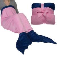 Original Comfy Tail Mermaid Blanket Throw Plush Fleece Sleeping Bag Kids Adults