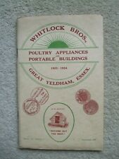 More details for   whitlock bros. great yeldham essex 1934 poultry appliances &portable buildings