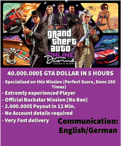 Gta 5 40.000.000$ Dollar Boost (PS4) Money Cash Boost