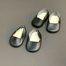 2 Pairs American Girl Josefina Christmas Dress Outfit Black Shoes For Doll Only