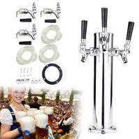 76mm Beer Faucet Draft Beer Tower Triple Tap Stainless Steel Tower Dispenser