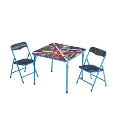 Marvel Avengers Infinity War New Kids Table and 2 Chairs Set - Child Desk New