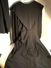 Vtg Authentic Mennonite Amish Dress, Apron & Cowl  Hand Sewn Sz 10-12 Black