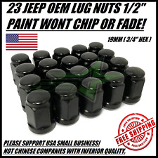 "23 JEEP BLACK LUG NUTS | 1/2""-20 
