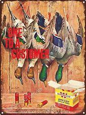 """1957 Winchester Shot Gun Shells Duck art Deco Man Cave Metal Sign 9x12"""" A165"""