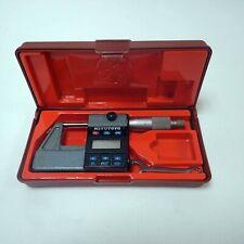 """MITUTOYO 293-311 DIGITAL MICROMETER 0-1"""" 0-25mm RANGE TESTED OK!"""