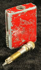 Vintage The Match King Flint Strike Lighter Red Metal Polo Player Chicago