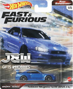Hot Wheels Nissan Skyline GTR R34 Fast And Furious GBW75-956M 1/64
