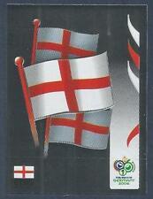 PANINI FIFA WORLD CUP-GERMANY 2006- #094-ENGLAND TEAM BADGE-SILVER FOIL