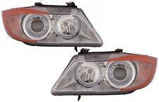 2006-2008 BMW 325/338/335 Projector/Angel Eye Headlight Assembly Pair Chrome