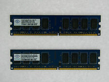 NT2GT64U8HD0BY-AD 4GB 2X2GB DDR2 PC6400 800MHz PC2-6400 240pin DIMM Nanya