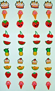 SHOE CHARMS (A2) - FOOD - FRUIT, CAKES & ICE CREAM (40AX2) - Pack of 40