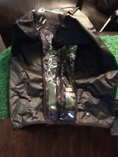 Golf Bag Rain Cover Zips Black - Clear 2 Snap Front/Strap Through Back Perfect!