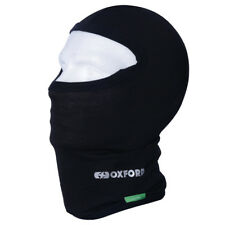 NEW Oxford Motorcycle Thermals Cotton Balaclava - Black (CA001)