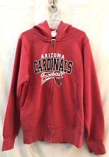 Nfl Team Apparel Youth Girl's Arizona Cardinal Maroon Hoodie Sweat Jacket Sz 7/8
