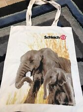 SCHLEICH COTTON TOTE BAG - LARGE - Perfect To Put All Your Schleich Toys In! New