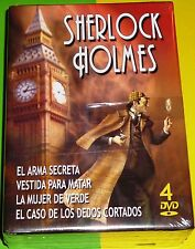 SHERLOCK HOLMES / PACK 4 DVD - Basil Rathbone - Precintada