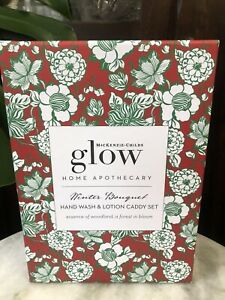 Mackenzie-Childs Glow Winter Bouquet Hand Soap and Lotion Caddy Courtly Check