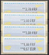 Briefmarken Frankreich FRA ATM ** 2000 Michel ATM 18.2xe = 4 Werte