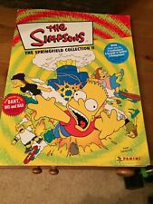 The Simpsons Springfield Sticker Collection Book Panini Album 2000 Complete