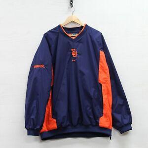 Vintage Syracuse Orange Nike Pullover Windbreaker Jacket Size XL NCAA
