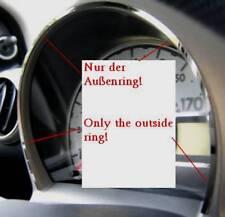 D Peugeot 107 Chrom Rahmen für Tacho außen - Edelstahl poliert
