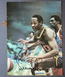 ABA Indiana Pacers Star George McGinnis AUTOGRAPHED-SIGNED SPORT Magazine Photo!
