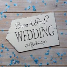 Personalised Wedding Sign Arrow Vintage