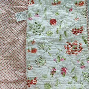 Laura Ashley Pink Floral Quilted Set of 2 Standard Pillow Shams