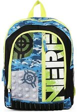 FAB Starpoint Nerf Blue and Green 16 inch backpack school, Sport Backpack