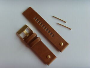 Diesel Original Spare Band Leather Wrist DZ7288 Watch Braun 24 MM Strap