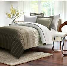 Brown & Grey Ombre Stripe Taupe 8-piece Bed-In-Bag