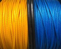 Dyneema 12 Strand Compact Braid 78 Blue/Yellow SK78 Per Metre Maffioli 4mm