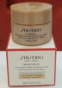 Shiseido Benefiance Overnight Wrinkle Resisting Cream 1.0 oz/ 30ml New in Box