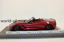 BBR 1872A Corvette Stingray 2014 Cristal Red Limited 84 Pieces 1:18