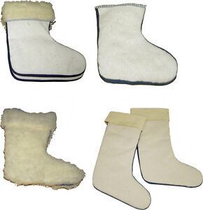 Stiefelsocken für Kinder warm flauschig Stiefeleinsatz + Stulpe Lammwolle