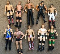 Lot of 10 WWE Wrestling Action Figure RVD Rusev Daniel Bryan Ryback Orton Macho