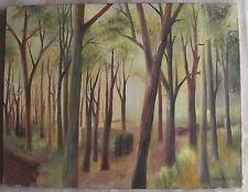 huile sur toile école française du XXème signée sous bois