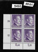 MNH 1941 stamp block / 12 Gr / Adolph Hitler /  Occupied Poland / Third Reich