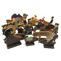 RARE 19 piece Erzegebirge Circus & Band Folk Art Primitive Wood Germany
