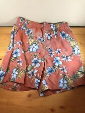 Tommy Bahama Men's Shorts Small Swimsuit Beach Hawaiian Pineapple Flowers Trunks